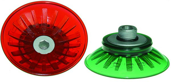 FC – FLAT-CONCAVE SUCTION CUP WITH INTERNAL CLEATS